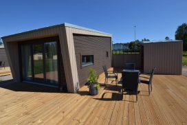ett budgetbehållarhus som tillverkas i Sverige